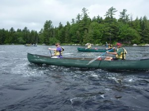 Boys canoeing