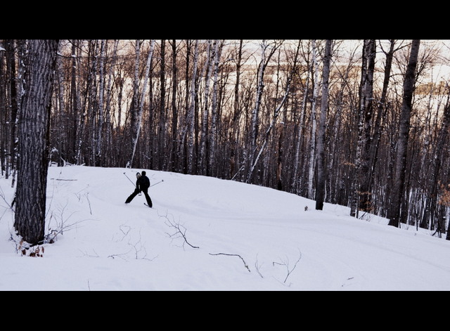 cross country skiers at black cat mountain