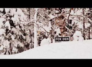 Fox Den cabin Sign
