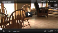 Maine Lodging video tour of the Bears Den cabin