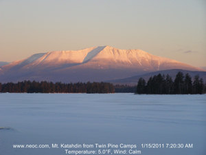 Mount Katahdin at sunrise