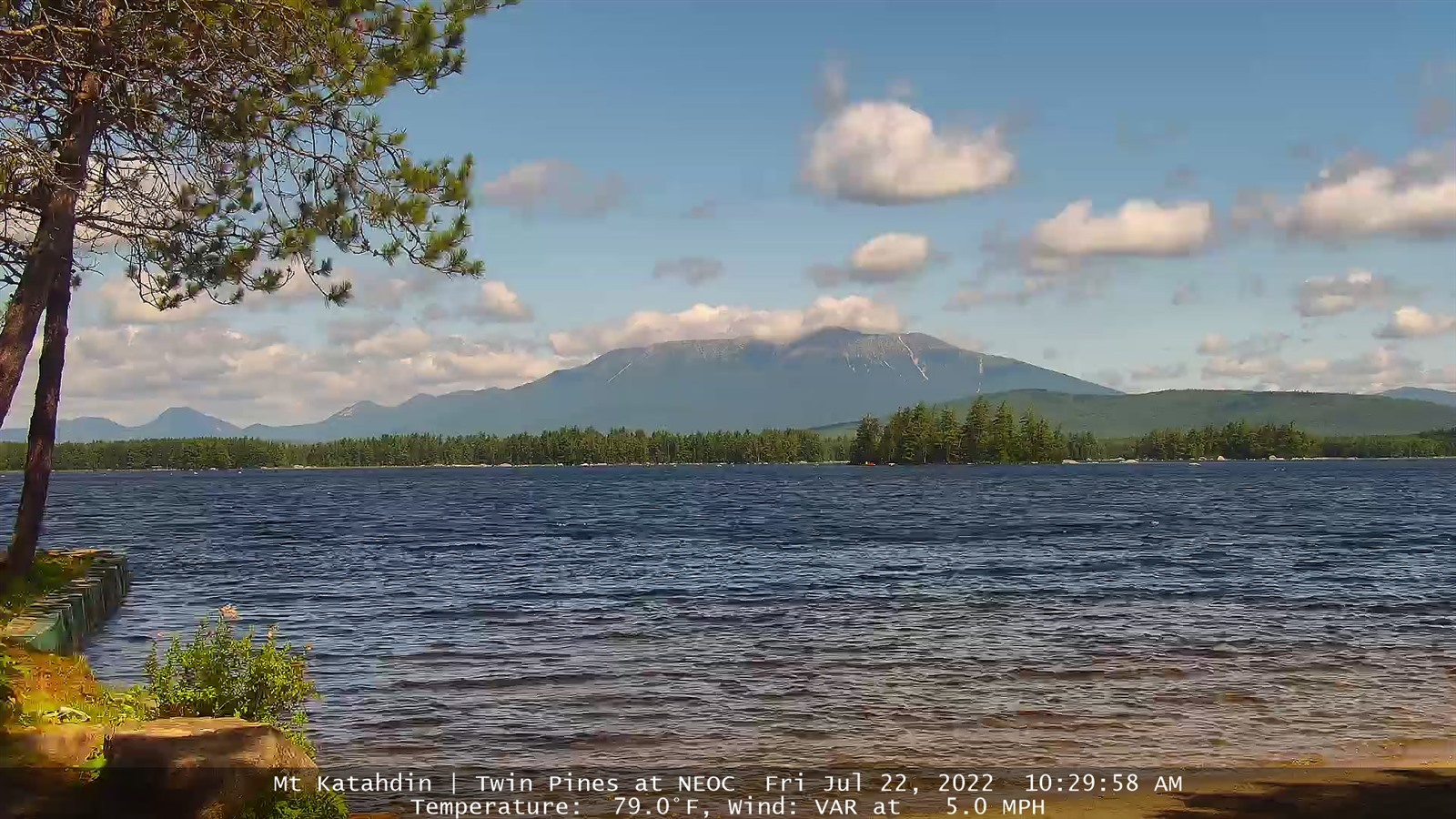 Webcam Millinocket Mt. Katahdin from Twin Pine Camps