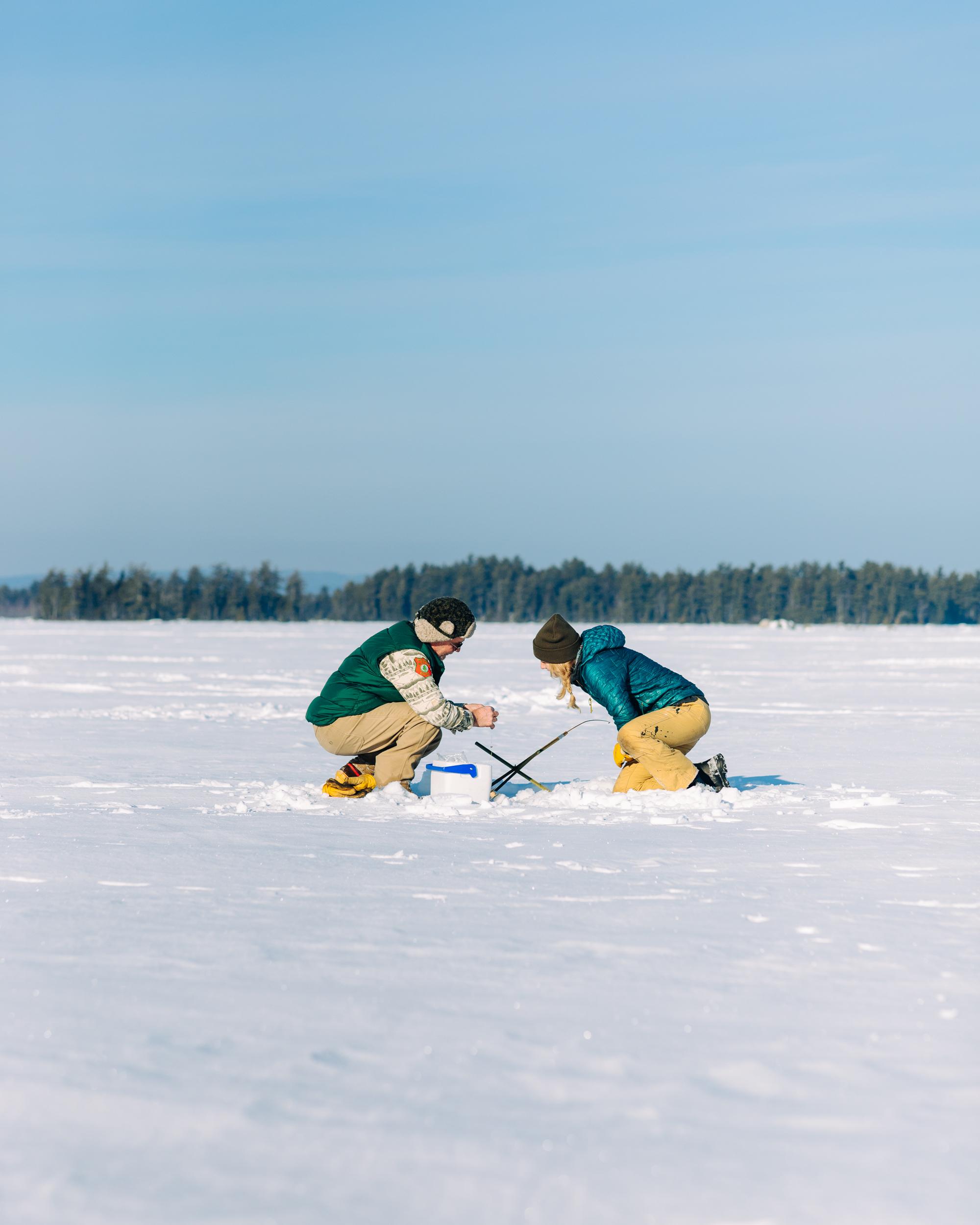 Ice Fishing on Millinocket Lake