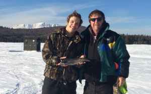 Father and son Ice Fishing at NEOC