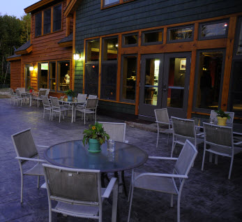Outdoor Dining at The River Driver's, dining in Millinocket