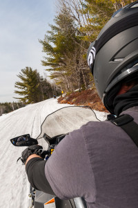 Snowmobiling in Maine