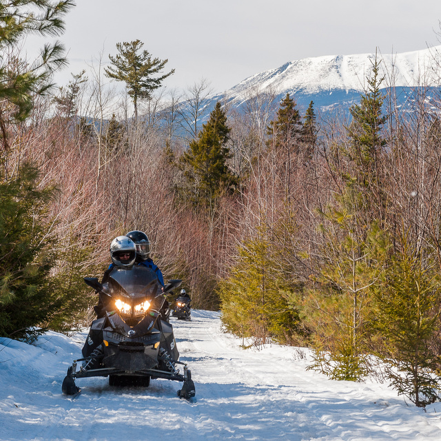 Snowmobile In Maine