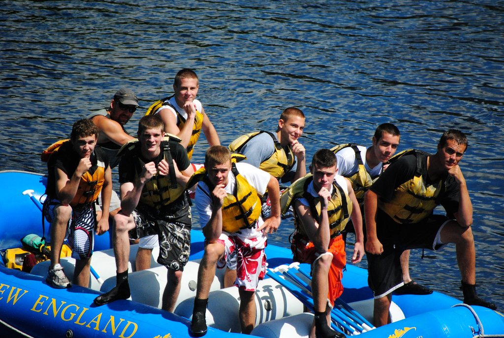 Whitewater rafting crew