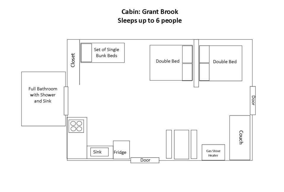 Lakeside Cabin - Grant Brook Floorplan