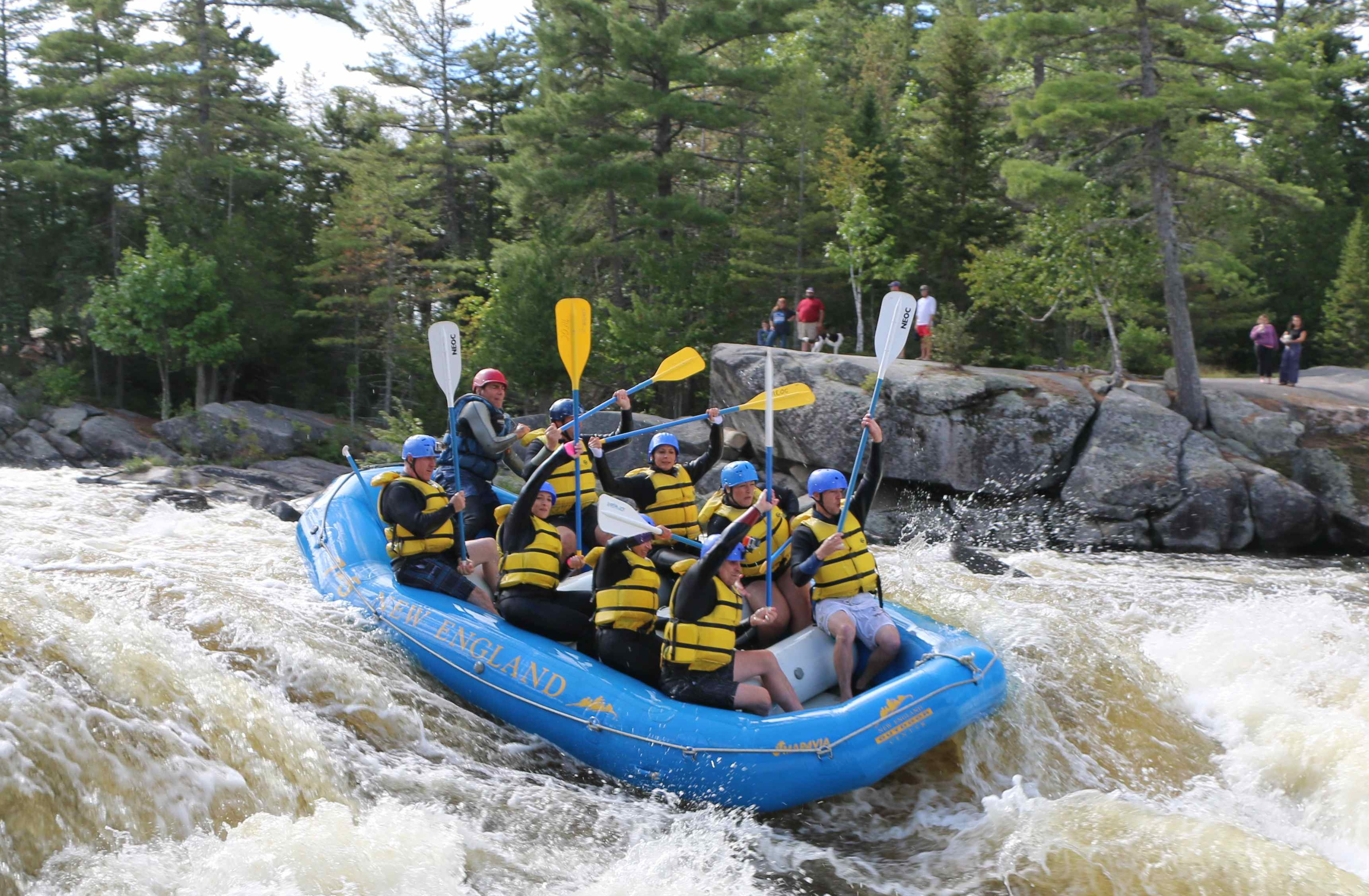 White Water Rafting Trips Near Millinocket Lake In Maine New England Outdoor Center