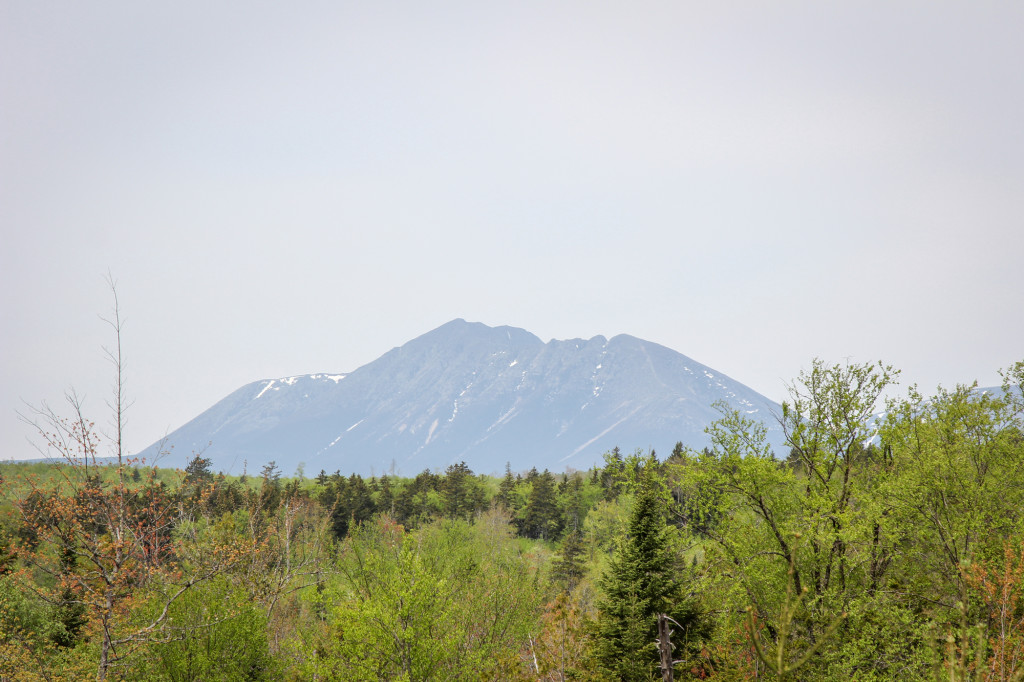 The first glimpse of Katahdin