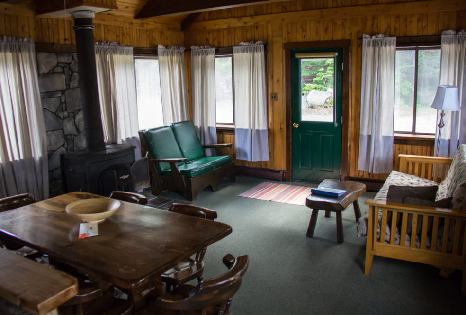 Living room inside of our Guides Cabin.