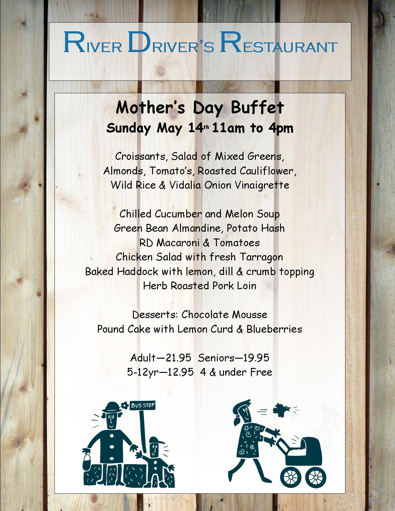 Mothers Day 2017 Menu