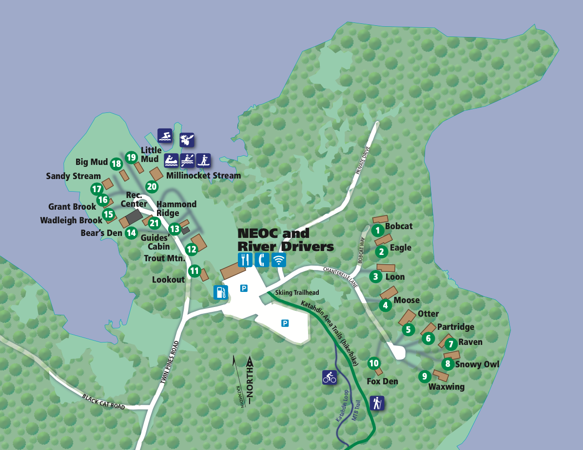 Map of the Grounds at NEOC Maine
