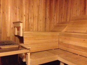 Sauna at NEOC