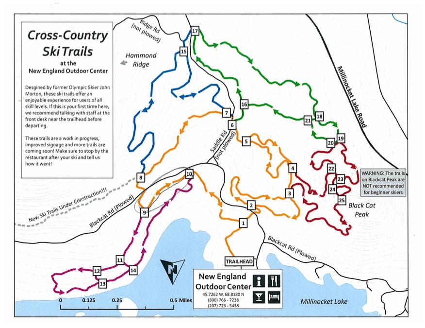 NEOC Ski Map