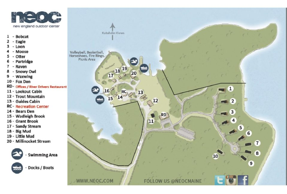 Twin Pines Map NEOC