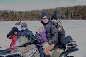 Matt and kids enjoying a winter day