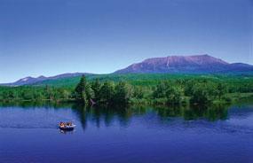 katahdin rafting scenery