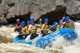 Rafting on the Penobscot, class 5 rapids