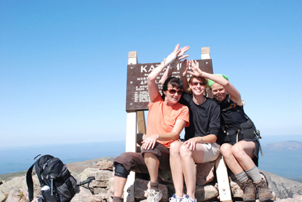 Guests enjoy summitting Mt. Katahdin