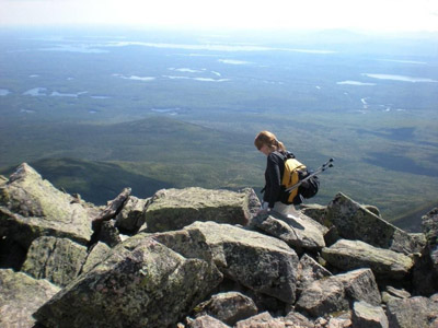 Knifes edge trail on Mt. Katahdin