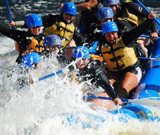 double trouble whitewater rafting scene