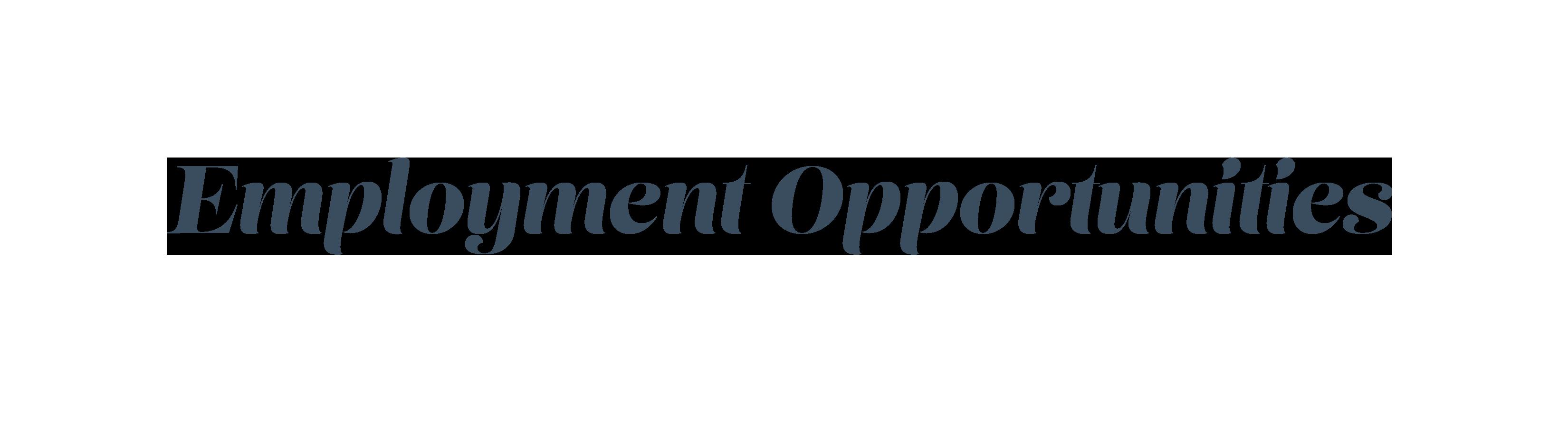 employmentopportunities