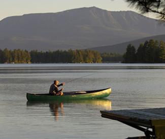 Fishing on Millinocket lake