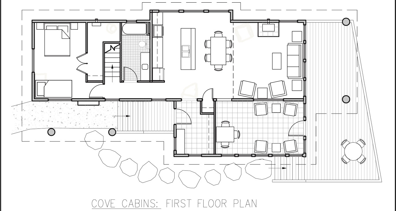 Small hunting cabin floor plans joy studio design for Cabin style floor plans