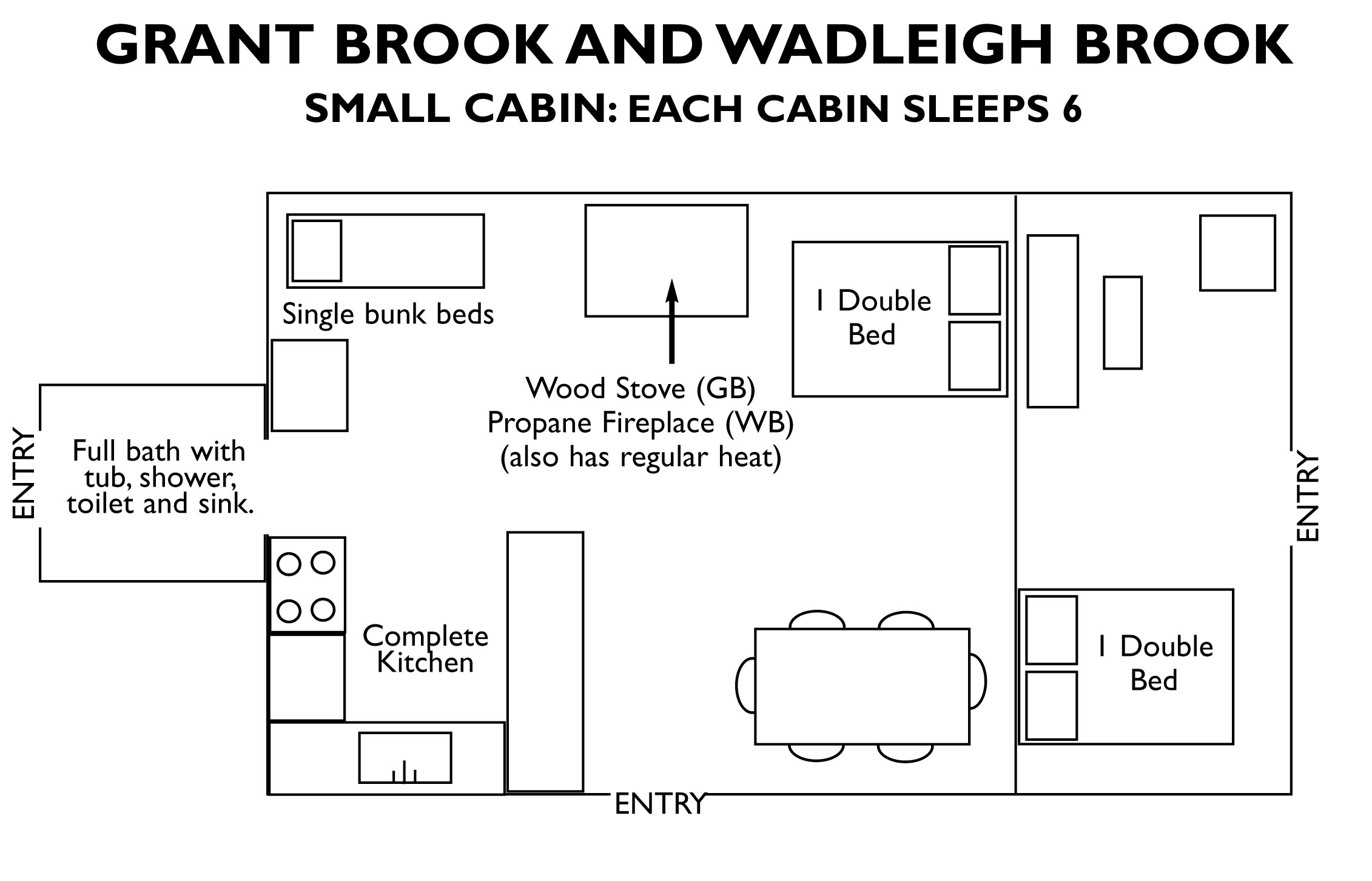 Lodging in Maine | Cabin rentals in Maine | Wadleigh Brook Cabin