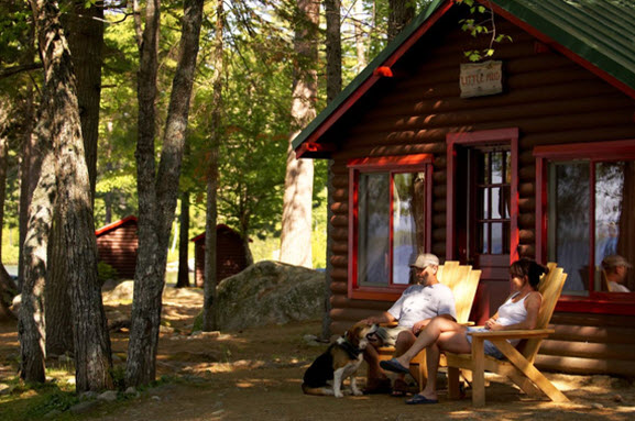 Lakeside Cabins and Hotel Style accommodation at NEOC on Millinocket Lake