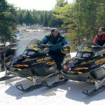group snowmobiling