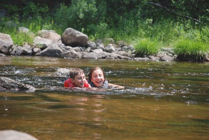 children playing in penobscot
