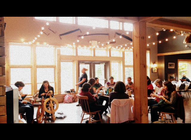 Knitters at Hightlands on the Fly
