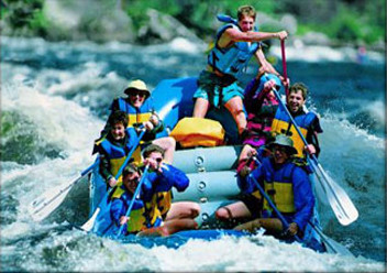 Maine whitewater rafting is great for families, friends and co-workers.
