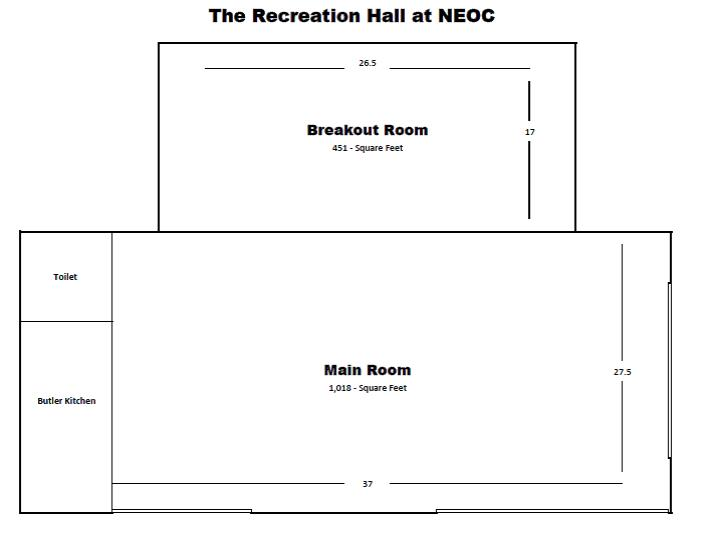 Rec hall floor plan