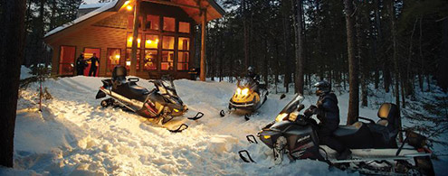 Maine Snowmobiling Vacation Resort Whitewater Rafting