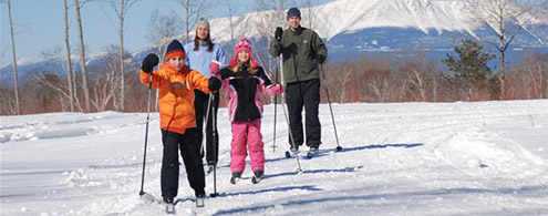 Family cross country ski adventure