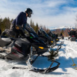 Snowmobiling
