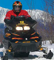 Photo of snowmobiler using rental