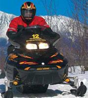 Photo of snowmobiler using rental