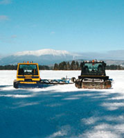 Photo of snowmobile trail groomers at NEOC